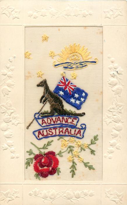 ADVANCE AUSTRALIA  Australian flag and kangaroo