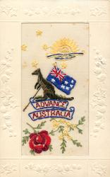 ADVANCE AUSTRALIA  Australian flag and kangaroo