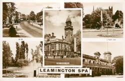 5 insets  THE PARADE/JEPHSON GARDENS/THE TOWN HALL/JEPHSON GARDENS/ROYAL PUMP ROOM