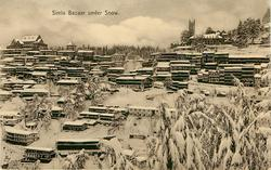 SIMLA BAZAAR UNDER SNOW