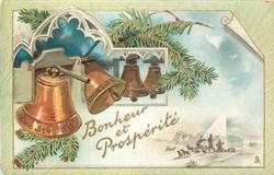 BONHEUR ET PROSPERITE four bells left to center, left largest, shepherd scene lower right