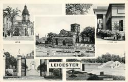 5 insets LONDON ROAD RAILWAY STATION/THE MUSEUM/ROMAN FORUM AND ST. NICHOLAS' CHURCH/THE WAR MEMORIAL AND GARDENS/ABBEY PARK