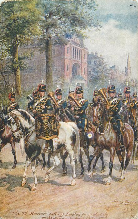 THE 7TH HUSSARS ENTERING LONDON FOR ROAD DUTY ON THE OCCASION OF A ROYAL VISIT