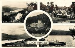 5 insets LOCH TUMMEL FROM QUEENS VIEW/LOCH TUMMEL LODGE/PORTANEILEAN HOUSE/LOCH FROM POST OFFICE/THE SHORE