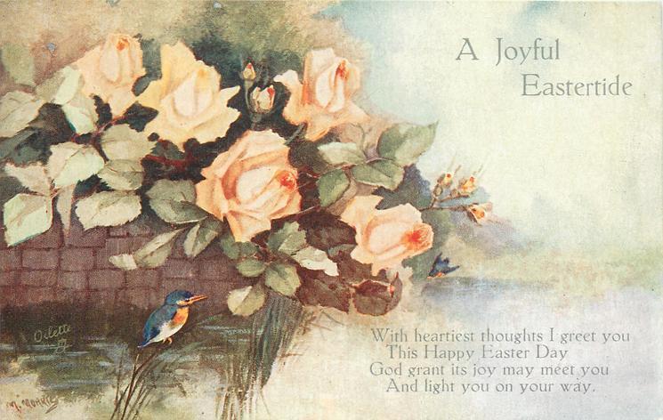 A JOYFUL EASTERTIDE  roses, kingfisher