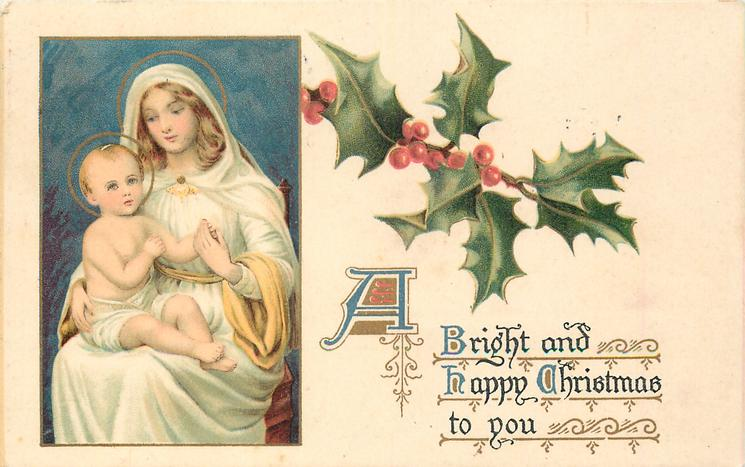 A BRIGHT AND HAPPY CHRISTMAS TO YOU