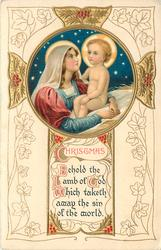 CHRISTMAS BEHOLD THE LAMB OF GOD WHICH TAKETH AWAY THE SIN OF THE WORLD