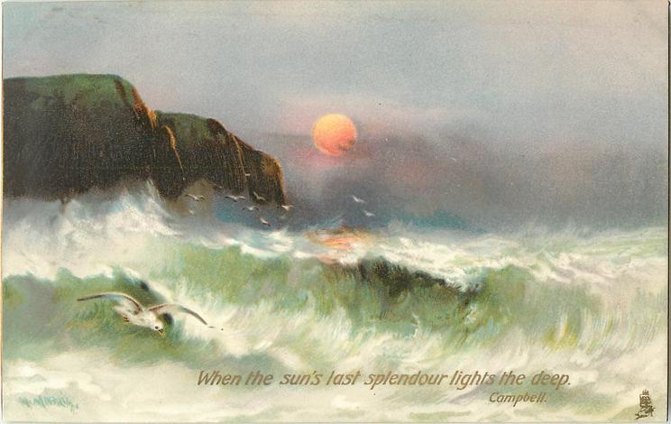 WHEN THE SUN'S LAST SPLENDOUR LIGHTS THE DEEP