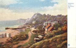 STEEPHILL COVE, VENTNOR, I.W.  sea on left