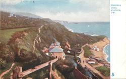 STEEPHILL COVE, VENTNOR, I.W.  sea on right