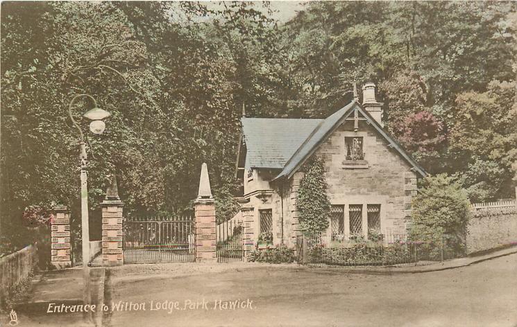 ENTRANCE TO WILTON LODGE PARK