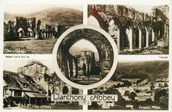 5 insets  THE ABBEY/THE ABBEY/THE ABBEY/THROUGH THE ARCHWAY/GENERAL VIEW