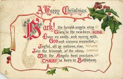 A HAPPY CHRISTMAS  HARK! THE HERALD ANGELS SING... BETHLEHEM