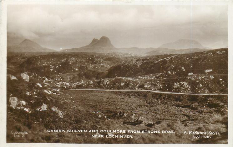 CANISP, SUILVEN AND COULMORE FROM STRONE, BRAE, NEAR LOCHINVER