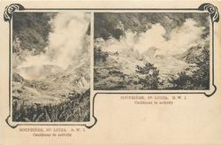 SOUFRIERE 2 insets both showing CAULDRONS IN ACTIVITY