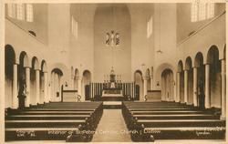 INTERIOR OF ST. PETERS CATHOLIC  CHURCH