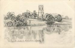 CHURCH, LAKE & REFLECTIONS