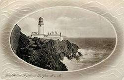 PORT SKILLION LIGHTHOUSE. I.O.M.