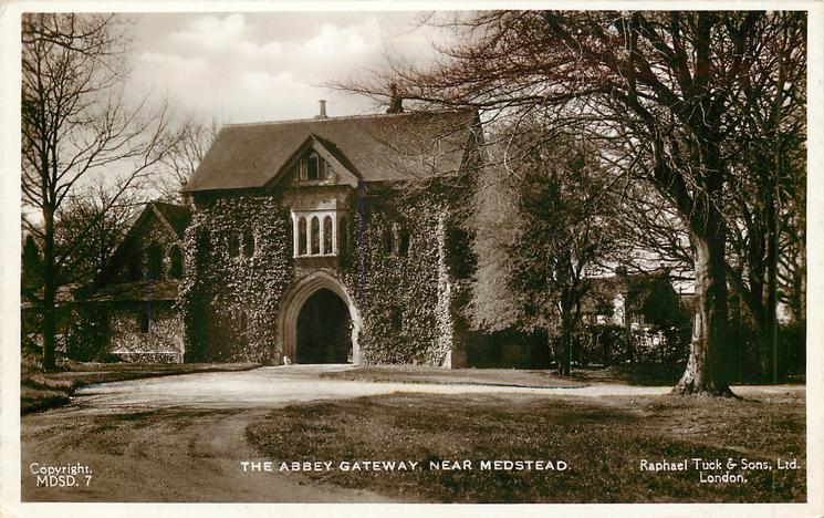 THE ABBEY GATEWAY, NEAR MEDSTEAD
