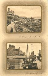 2 insets ON DOUGLAS HEAD, I.O.M// PEEL CASTLE, I.O.M
