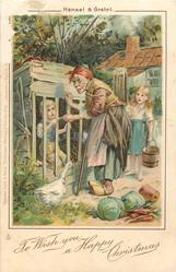 TO WISH YOU A HAPPY CHRISTMAS  HANSEL & GRETEL  witch gives bone to boy in cage