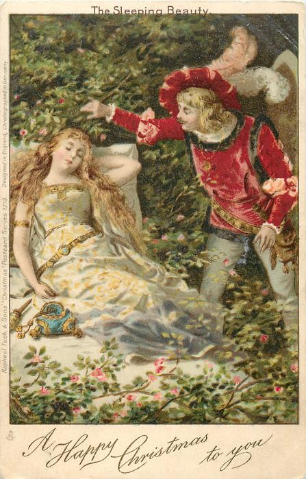 A HAPPY CHRISTMAS TO YOU THE SLEEPING BEAUTY  Prince approaches her in sleep