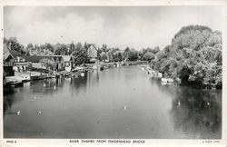 RIVER THAMES FROM MAIDENHEAD BRIDGE