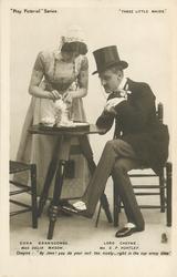 EDNA BRANSCOMBE, MISS DELIA MASON, LORD CHEYNE, MR. G.P. HUNTLEY...TIME