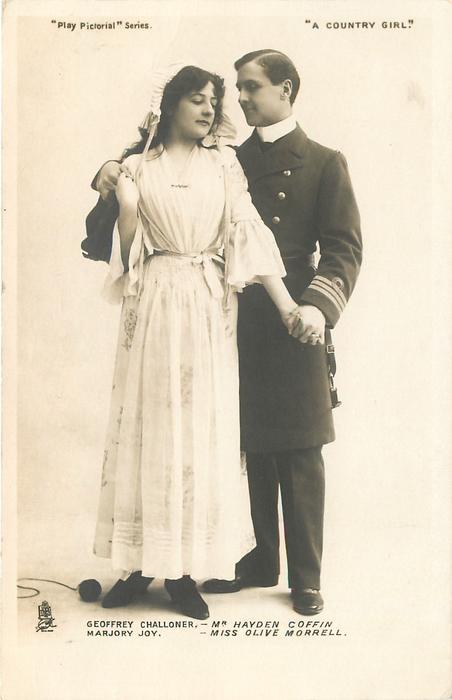 GEOFFREY CHALLONER - MR. HAYDEN COFFIN MARJORY JOY - MISS OLIVE MORRELL