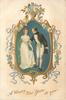 A HAPPY NEW YEAR TO YOU  ornate framed inset of couple