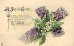 A JOYFUL EASTER  violets & lilies-of-the-valley