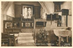 INTERIOR MINSTEAD CHURCH. NEW FOREST