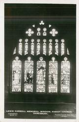 LEWIS CARROLL MEMORIAL WINDOW, PARISH CHURCH, DARESBURY