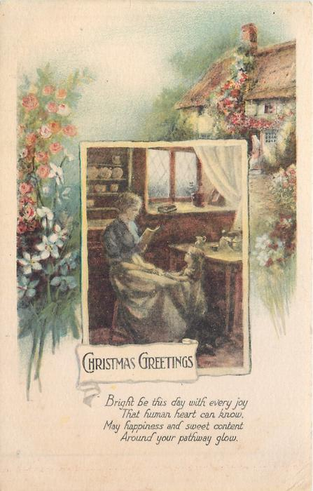 CHRISTMAS GREETINGS    cottage scenes