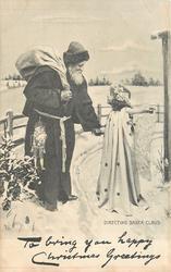 DIRECTING SANTA CLAUS  angel directs Santa