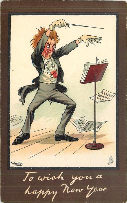 TO WISH YOU A HAPPY NEW YEAR impassioned orchestral conductor