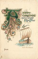 A HAPPY CHRISTMAS AND A BRIGHT NEW YEAR FROM sailboat