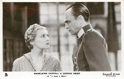 "MADELEINE CARROLL & CONRAD VEIDT IN ""I WAS A SPY"""
