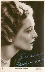 MADELEINE CARROLL looking right