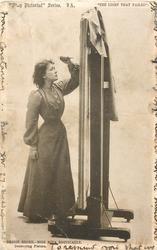 BESSIE BROKE, MISS NINA BOUCICAULT, DESTROYING PICTURE