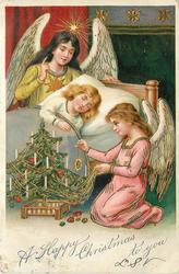 A HAPPY CHRISTMAS TO YOU  two angels