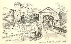 ENTRANCE TO CARISBROOKE CASTLE, I.O.W.