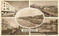 5 insets THE PROMENADE/PIER AND BANDSTAND/SEA FRONT AND BEACH/THE PIER APPROACH/BOATING AND PADDLING POOL
