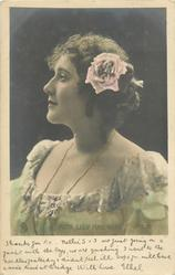 MISS LILY HANBURY  head & shoulders, head erect, looking left