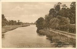 RIVER FROM BRIDGE, SOUTH SIDE