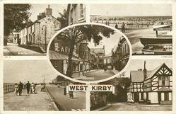 5 insets THE OLD VILLAGE/THE BEACH/THE CRESCENT/THE PROMENADE/RING O' BELLS
