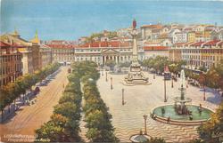 LISBOA (PORTUGAL), PRACA DE D. PEDRO - ROCIO