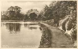 LAKE AND ROCKERY IN PARK