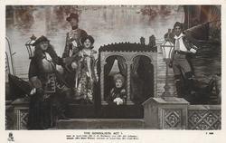 ACT 1., DUKE OF PLAZA-TORO (MR. C.H. WORKMAN), LUIZ (MR. ALEC JOHNSTONE), CASILDA (MISS MARIE WILSON), DUCHESS OF PLAZA-TORO (MISS LOUIE RENE)