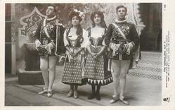 ACT II., MARCO PALMIERI (MR. PACIE RIPPLE), GIANETTA (MISS LILIAN COOMBER), TESSA (MISS JESSIE ROSE), GUISSEPPE PALMIERI (MR. RICHARD GREEN)